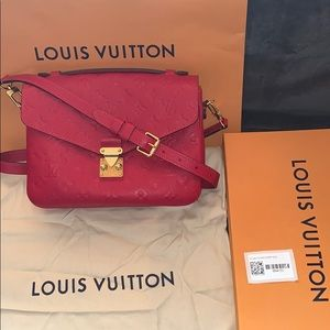 Louis Vuitton Red Monogram Pochette Metis